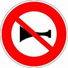 Panneau D Interdiction De Signaux Sonores En