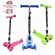 kickflow scooter tretroller cityroller roller blau schwarz