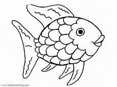 rainbow fish coloring pages free printable coloring pages
