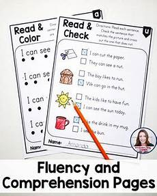 fluency and comprehension worksheets cvc words by s little learners