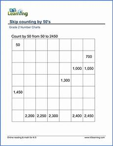 grade 2 skip counting worksheets count by 50s k5 learning