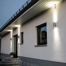 Außenbeleuchtung Haus Led - steel aussen wandleuchte up beleuchtung