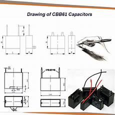 fan capacitor cbb61 2 wires 3 5 uf 4 uf 4 5 uf 5 uf 6 uf 8 uf 10 uf buy fan capacitor cbb61 2