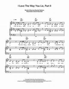 love the way you lie pt 2 feat eminem sheet music by rihanna piano vocal guitar right