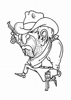 Ausmalbilder Erwachsene Cowboy Ausmalbild Cowboy Mit Pistolen Kostenlos Ausdrucken