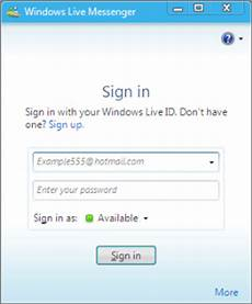 Msn Log In - how to connect splitcam to windows live messenger 2009