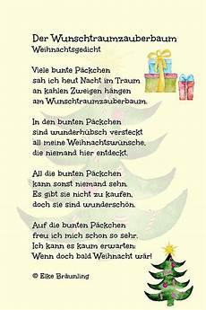 der wunschtraumzauberbaum gedicht weihnachten