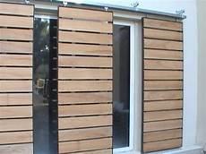 porte coulissante exterieur bois id 233 e fabriquer des volets coulissant brise soleil