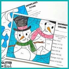 color by number winter coloring sheets 18159 winter multiplication color by number free by glitter in third
