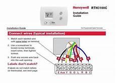 honeywell rth3100c installation issues doityourself com community
