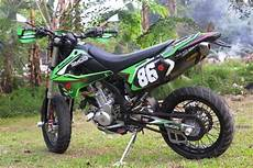 Modifikasi Klx Supermoto by Motor Terong Modifikasi Kawasaki Klx 250 Model Supermoto