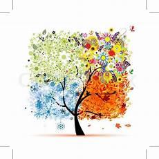 Ausmalbilder Herbst Und Winter Vier Jahreszeiten Fr 252 Hling Sommer Herbst Winter