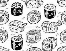 mod 232 le sans couture noir et blanc de sushi et de sashimi