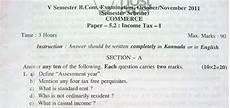 income tax i question paper 2011