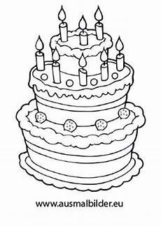 Kinder Malvorlagen Torte Torte Zum Geburtstag Bild Zum Ausmalen 04 Ausmalbilder