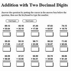 10 digits addition with decimals seventh grade interactive math skills decimals