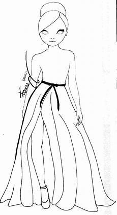 topmodel malen ausmalbild hochzeitskleid nr 1