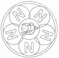 kostenlose malvorlage mandalas mandala buchstabe n zum