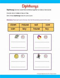 blends digraphs and diphthongs second grade english worksheets biglearners