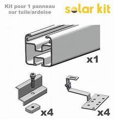 kit pose solaire structure de pose pour 1 panneau solaire 35mm sur toit en
