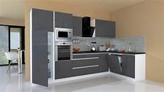 Küchen L Form - winkelk 252 che k 252 chenzeile k 252 che l form k 252 che grifflos grau