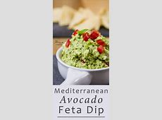 easy avocado   feta cheese dip_image