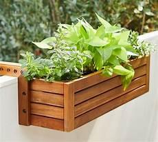 Juliet Balcony Planter Box On Rail Pottery Barn