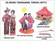 34 Provinsi Rumah Adat Pakaian Adat Tarian Tradisional
