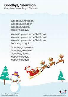 goodbye snowman lyrics poster simple