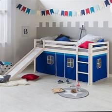 hochbetten mit rutsche homestyle4u hochbett kinderbett mit rutsche blauem
