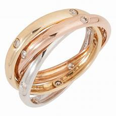 pre owned 18ct gold diamond russian wedding ring