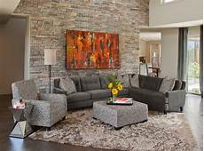 steinwand wohnzimmer grau bright palliser furniture in living room eclectic with