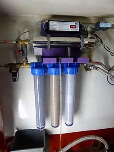 filtre eau potable maison fabriquer eau potable sur un bateau qui navigue