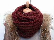 tricoter en rond un snood la mode femme id 233 e