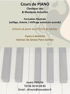 Cours De Piano à Domicile Frouin Andr 233 Cours De Piano 224 Domicile Jonzac 17500