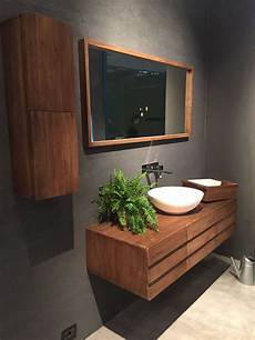 Mid Century Wood Bathroom Vanity