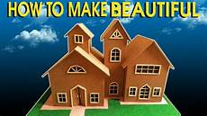 how to make 3d cardboard house beautiful small house