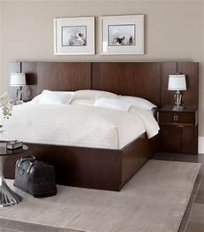 the chic ventura platform bed and pier nightstand combo