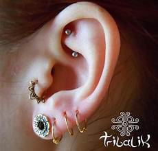 piercing helix et tragus lotus flower brass tragus ring small septum ring helix by