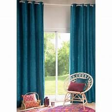 rideau 224 œillets bleu canard 224 l unit 233 130x300 vintage