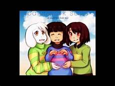 undertale asriel chara and frisk youtube