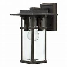 hinkley lighting manhattan rubbed bronze led outdoor wall light 2325oz led destination