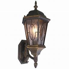 deluxe rustic golden black iron mosaic etching outdoor wall light