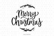 merry christmas svg lettered quote by skyladesign thehungryjpeg com