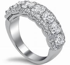 seven stone cushion diamond wedding ring 2 5 carat total weight jewels pinterest