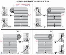 reglage moteur electrique volet roulant