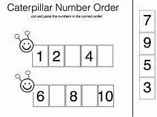 pre k number order worksheets easy kiddo shelter