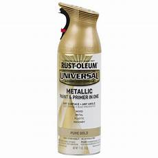 rust oleum universal pure gold metallic rust resistant enamel spray paint actual net contents