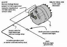 how to wire a one wire gm alternator diagrams alternator