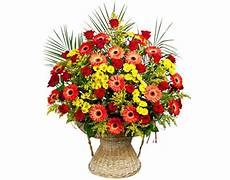 picture bouquets roses gerberas mimosa flowers
